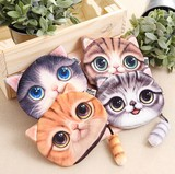 ネコミニポーチ/猫しっぽのジッパー/アニマルバッグ/ねこコインケース