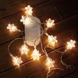 【クリスマス特集】 レス イヴェール LED 10球 スノーフレークライト ★CHRISTMAS