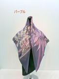 2016秋冬新作)スカーフ シルク綾織生地幾何柄日本製四角スカーフ