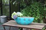 再入荷!存在感があり人気のシリーズです。Sea Blueボル Vase