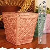 手軽にお家リゾート アジアン模様のアルミボックス【アルミダストボックス】アジアン雑貨