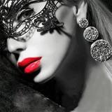 ◇パーティーグッズ◇ レースマスク 仮面 花柄 ハロウィン コスチューム