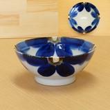 藍花 麺鉢
