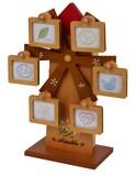 【 (日本製)木製オルゴール付回転式フォトフレーム    】 【ベビーシリーズ】