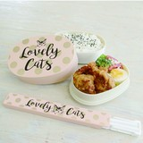 ラブリーキャッツシリーズ スケッチタッチの大人可愛い雰囲気がポイント LC箸箱セット