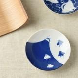 千鳥づくし 富士千鳥 9.5cm豆皿[日本製/美濃焼/和食器]
