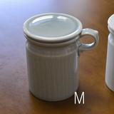 【白山陶器】【波佐見焼】【フリースタンド蓋付き】【M・グレイ】12×9.5cm 高さ12cm 500g