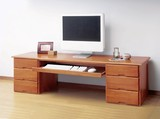 木製文机(スライドテーブル付き)【直送可】【送料無料】