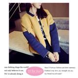【2016AW新作】配色デザイン ニットジャケット