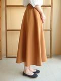 再入荷!【秋冬新作】光を吸い取るマットな質感!Tマイクロピーチ起毛ロングスカート!