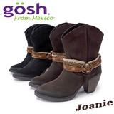 【GOSH/ゴッシュ】メキシコ製 牛革スエード ショートウェスタンブーツ 8cmヒール