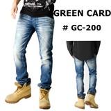 ☆再入荷☆ GREEN CARD 【グリーンカード】 ウォッシュド ストレート  デニムパンツ #1630001