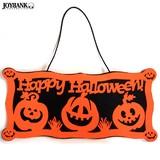 Happy Halloweenフェルトプレートオーナメント【かぼちゃ/パンプキン/ハロウィン/雑貨】