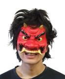 【マスク/かぶりもの】半面マスク 鬼<ハロウィン>