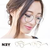 ◆[UVカット]細フレーム・クラシック丸メガネ/メガネ/眼鏡/アクセサリー◆424437