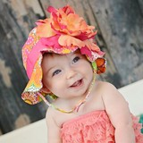 Hat Hats & Cap Orange Floral Exclusive Use with box