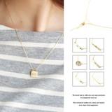 【選べる8デザイン】ネックレス レディース シンプル ゴールド ワンポイント チャーム プレゼント 女性