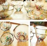 【津軽びいどろ・・日本製美しいガラス器】ねぶたタンブラー&盃&片口&多様鉢&小鉢