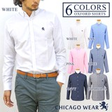 Ford Shirt One Point Embroidery Long Sleeve Men's Button Down