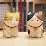 ちぎり和紙 にっこりおじぎ猫