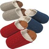 【Knit slippers】アラン編みバブーシュスリッパ(M)