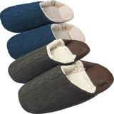 【Knit slippers】アラン編みバブーシュスリッパ(L)