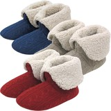 【Knit slippers】アラン編み 折り返しブーツ(M)