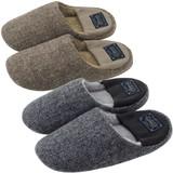 【Knit slippers】リブ付きスリッパ ヘリンボーン(L)