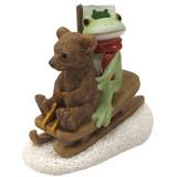【Copeau】コポー カエルとクマのソリ遊び