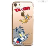 カスタムカバー iPhone 7 トムとジェリー(トムびっくり)