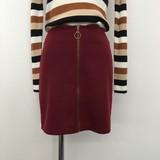【予約販売】10月中旬納品 リングファスナーポンチミニスカート