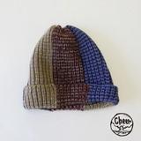 【秋冬新作】[ニット帽]ルイード パッチワーク CAP