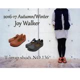 【joy walker】2016-17A/W -Tストラップシューズ- 【秋冬新作】【リンネル掲載商品】