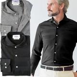 日本製 ジャージ素材のストレッチカットソーシャツ