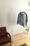 Tall Long Clothes Hanger Rack Steel Attached