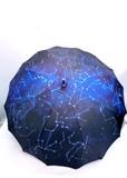 通年新作)雨傘・長傘−婦人 1枚張手法満天の星空柄サンフラワー骨ジャンプ雨傘