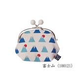 【五色帆布堂】3.5寸がま口(マチ・ビーズ付)(富士山シリーズ)