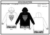 【2016秋冬新作】裏毛 長袖裾切替ロング丈パーカー(ペイズリー 逆三角)