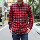 【2016秋冬新作】ブロックチェックネルシャツ