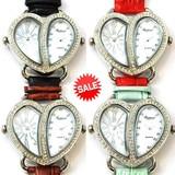 【在庫処分SALE】ダブルフェイスウオッチ 革ベルト 本革 ファッションウォッチ レディース腕時計