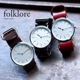 【予約10月上旬より発送】[folklore]アンティーク調♪レザーウォッチ◆424543