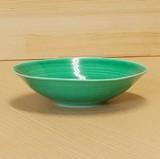 緑交趾 なぶり多用鉢