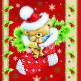 Maki  ペーパーナプキン クリスマス クマ・靴下