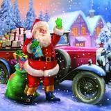 Maki  ペーパーナプキン クリスマス サンタクロース