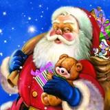Maki  ペーパーナプキン クリスマス サンタ・ぬいぐるみ