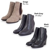 【PUPE プーペ】8cmヒール サイドジップ ショートブーツ サイドゴア ブーティ ブーツ