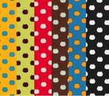 ねこたま オックス生地 6色 【ねこ】【水玉】【ハンドメイド】【プリント生地】