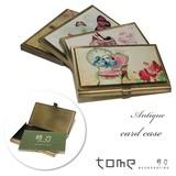 カードケース 西洋の雰囲気漂うアンティークなカードケース 金古美 名刺入れ