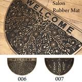 Doormat Salon Rubber Mat Half Round