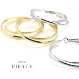 Double Hoop Pierced Earring Sophistication Items Beauty Form Smile Items